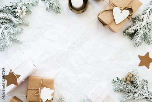 merry christmas and happy holidays greeting card frame banner new year christmas