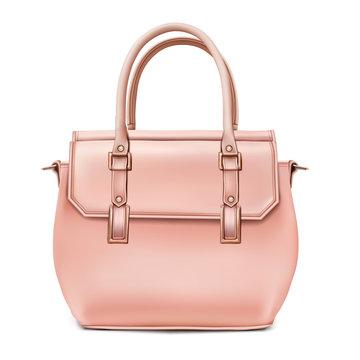 Stylish women's beige handbag