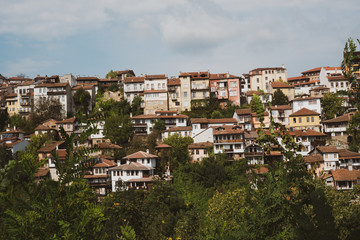 Houses on hill slope