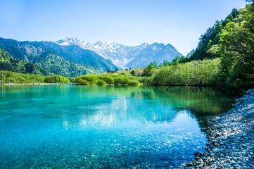 Fototapeta 上高地の穂高連峰 大正池から obraz