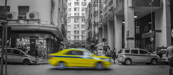 taxi in the city