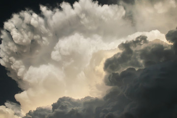 These dark and dramatic thunderstorm clouds developed directly overhead on a hot and humid Kansas summer afternoon, a heavy storm and tornado warning soon followed.