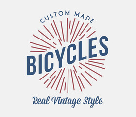 Bicycles vintage style costum made