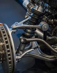 Car front axle system. car suspension / compoents