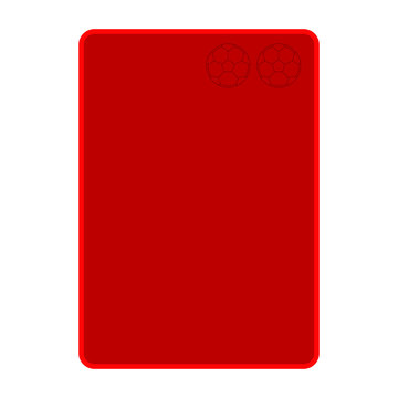 Isolated soccer red card. Vector illustration design