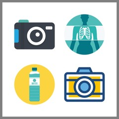 image icon. x ray and photo camera vector icons in image set. Use this illustration for image works.