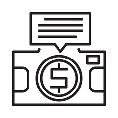 camera detail information line icon