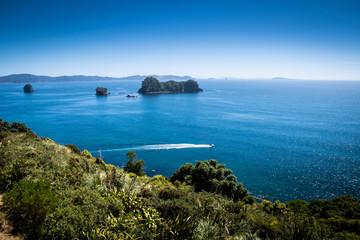 Schilderachtig uitzicht op het schiereiland Coromandel in Nieuw-Zeeland