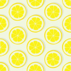 lemon slice seamless pattern