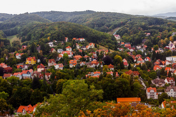 Old German town in the hillside