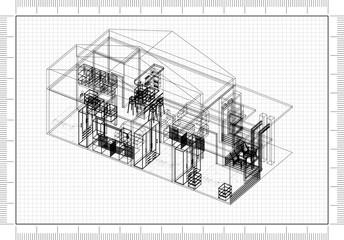 House architect design blueprint