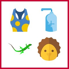 closeup icon. soap and lizard vector icons in closeup set. Use this illustration for closeup works.