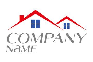 logo house for sale rental or home ownership vector illustration