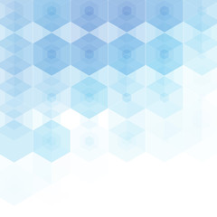 blue hexahedrons. Vector illustration. Geometric figures. Polygonal style