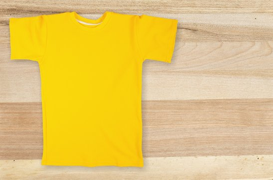 Yellow t-shirt isolated on background