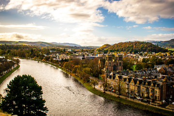Türaufkleber Paris Inverness Scotland Landscape with buildings architecture Inverness Travel Scotland Concept in the heart of the highlands