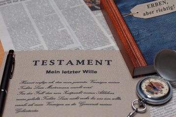 Testament, Mein letzter Wille, Collage