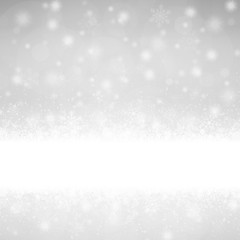 snow flakes background with banner