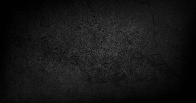 Blank black texture surface background, dark corners