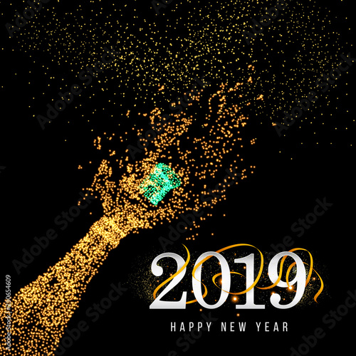 new years 2019 happy new year greeting card 2019 happy new year background with