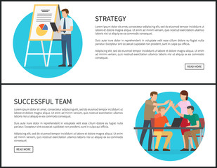 Strategy and Successful Team Promo Banners Set