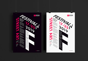 Event Poster Layout with Dimensional Typography