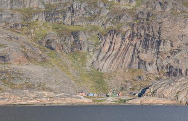 Wall Murals Monkey Das einsame Dorf der Inuit Aapillatoq im Prins-Christian-Sund