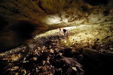 Cioclovina Cave in the Carpathians, Romania, Europe