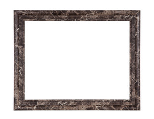 Classic frame isolated empty on white background.