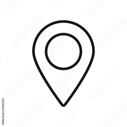 Pin map icon vector  Line location pinpoint symbol