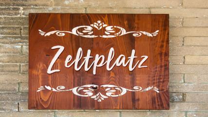 Schild 344 - Zeltplatz