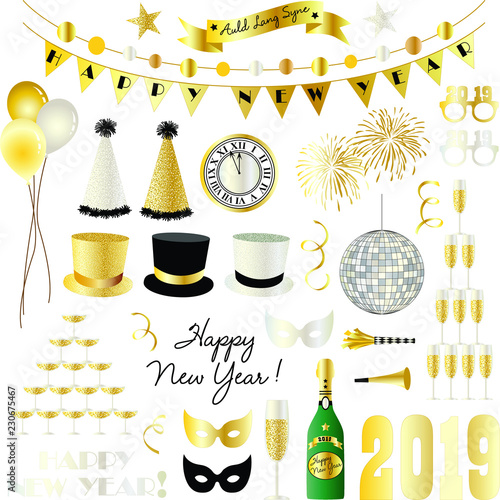 2019 New Years Eve Clipart Graphics Stock Image And Royalty Free