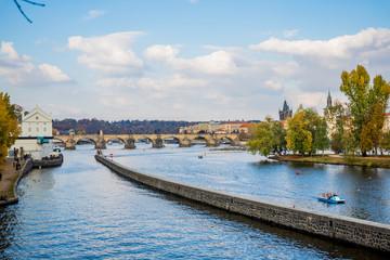 La Vlatava et le Pont Charles de Prague