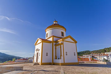 Igreja or Capela do Calvario Church in the city of Portalegre, Alto Alentejo, Portugal. 17th and 18th century baroque architecture