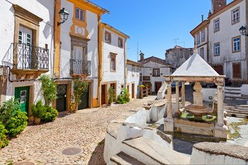 Fonte da Vila aka Village or Town Fountain in the Jewish Quarter or Ghetto built during the Inquisition. Castelo de Vide, Portalegre, Portugal. 16th century Fototapete