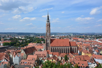 View in the city of LANDSHUT, Bavaria, region Franconia, Germany