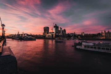 El skyline de Londres en construcción.