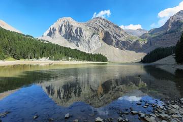 Pyrenees lake Ibon de Plan (Basa de la Mora), Aragon, Spain