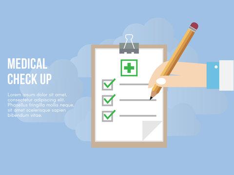 Medical check up concept illustration vector design template