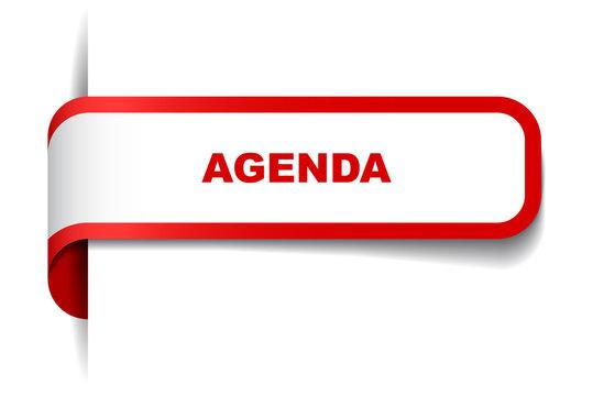 red vector banner agenda