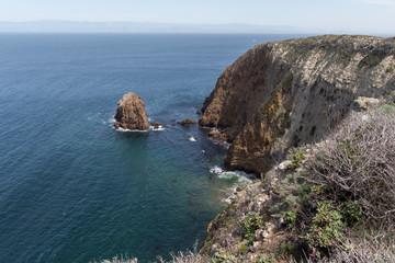 Hiking on Santa Cruz Island, California