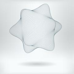 Vector 3D Model Nanobot Concept Icon -  HiTech Style Nanotechnology Nanostar Structure