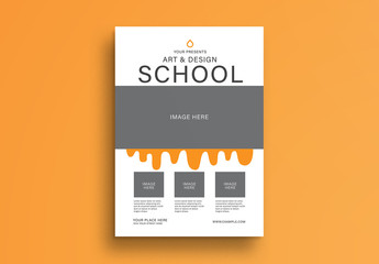 School Flyer with Photo Placeholders