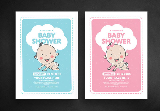 Baby Shower Flyer Layouts