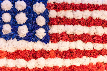 USA flag made out of paper mache