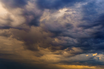 Dramatic sky before storm. Abstract background