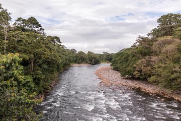 Sarapiqui river touristic attraction in the atlantic zone of Costa Rica