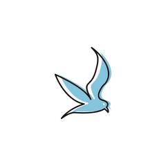 bird vector abstract logo download template