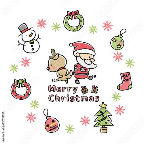 クリスマス イラスト 手描き風 Stock Image And Royalty Free Vector