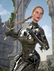 Beautiful Woman Medieval Crusader